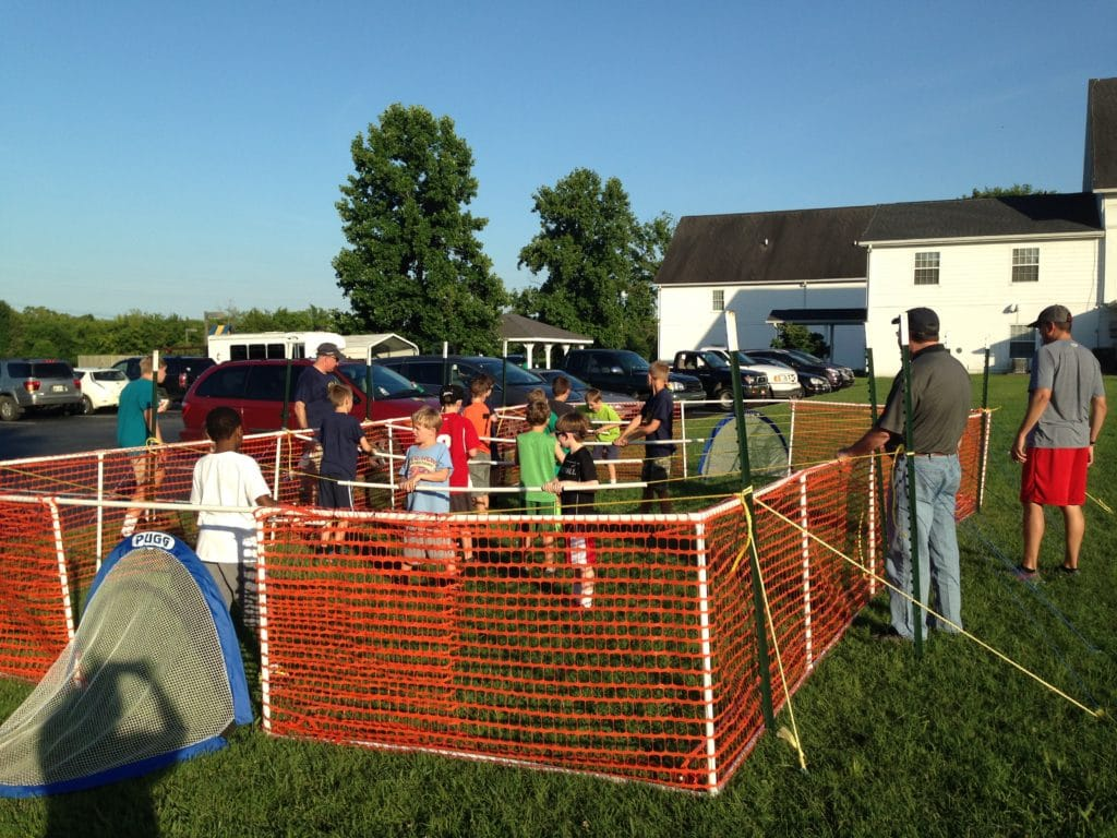 human foosball for Cub Scout summertime pack award