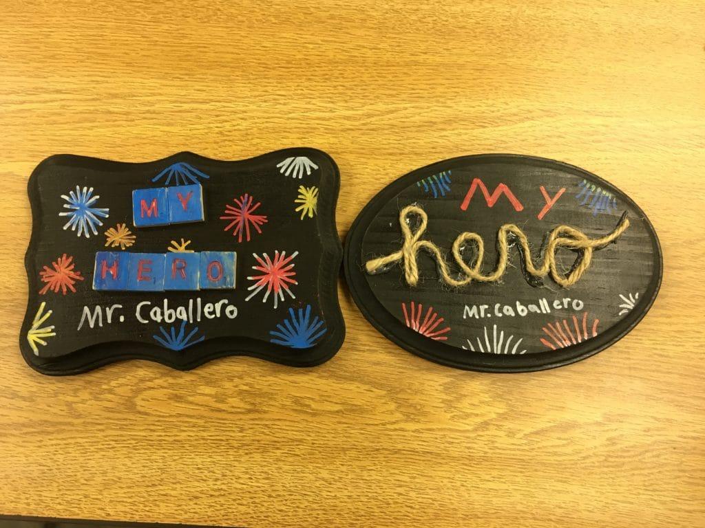 My hero award plaques