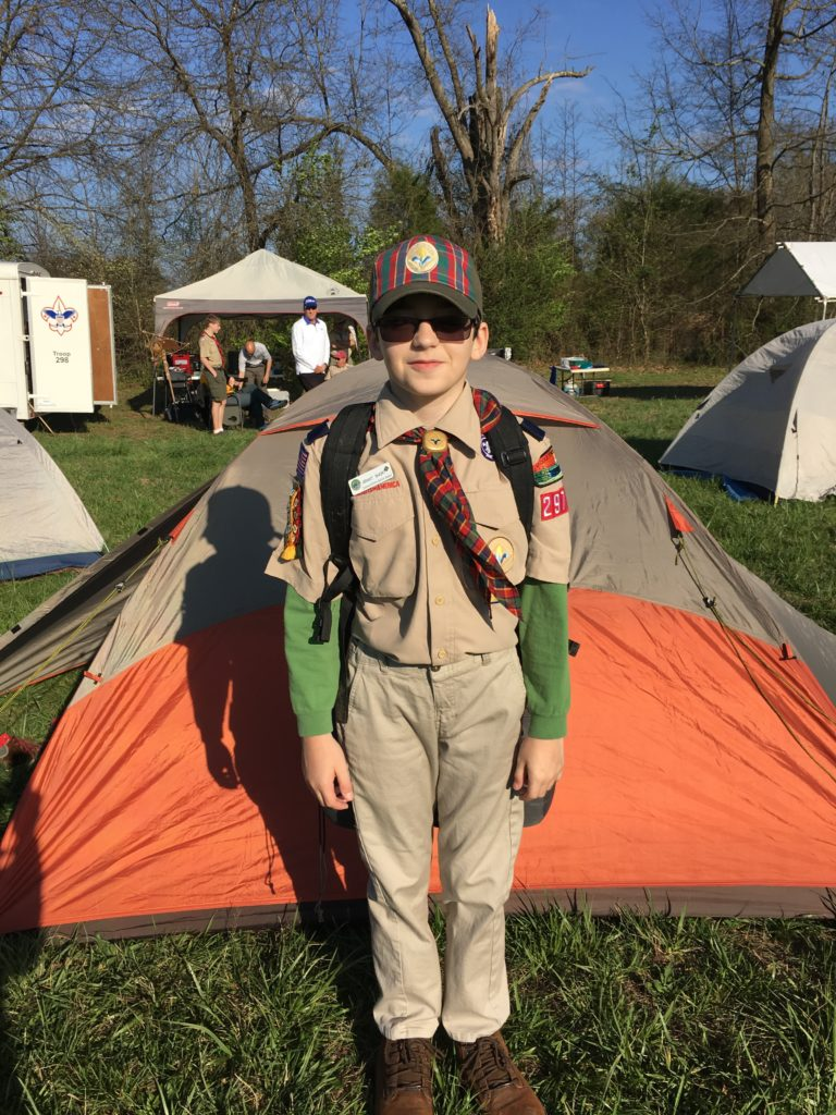 Cub Scout Camping for summertime pack award