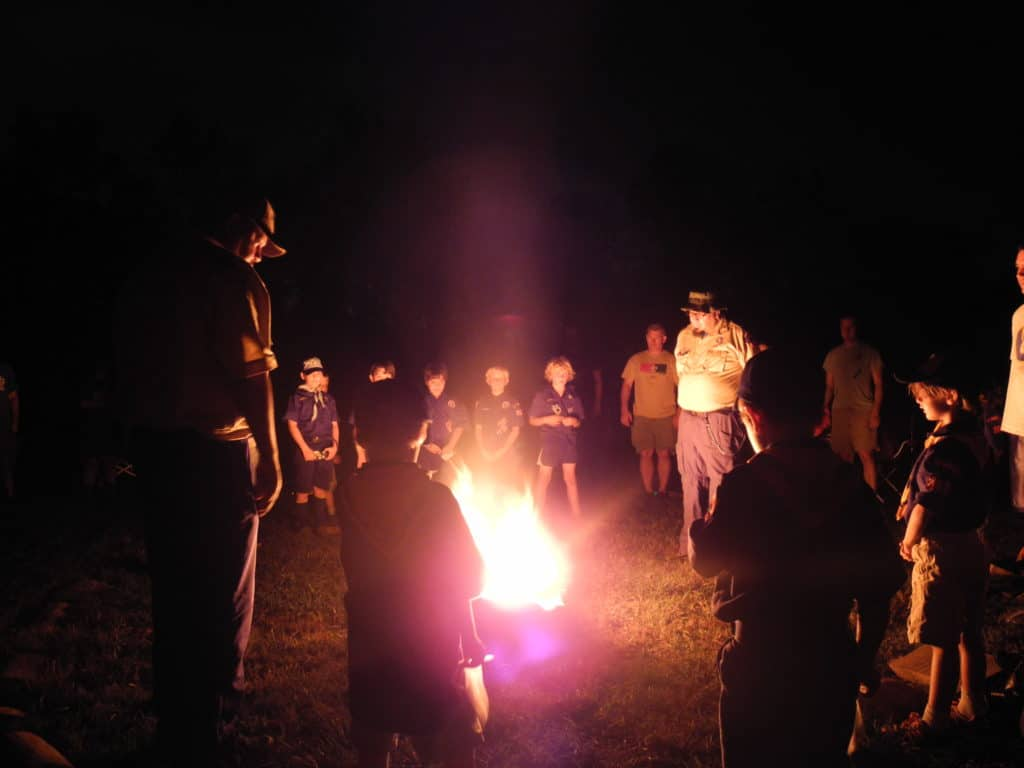 cub scout campfire for summertime pack award