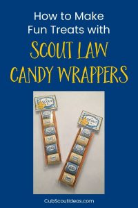 candy wrappers with scout law