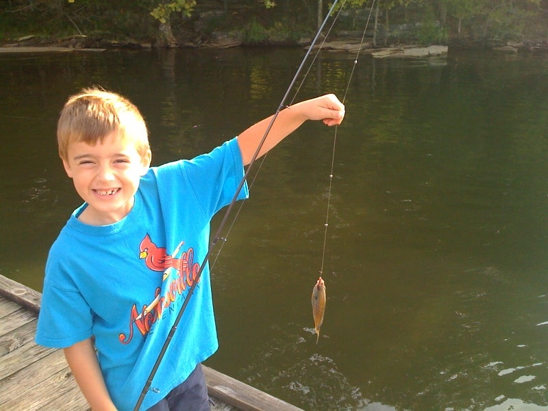 cub scout fishing for summertime pack award