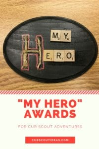 my hero plaque