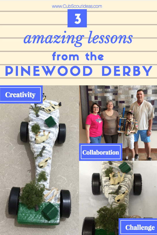 The Pinewood Derby is THE Cub Scout event. Here's how we learned about creativity, challenge, and collaboration while building a tornado Pinewood Derby car.