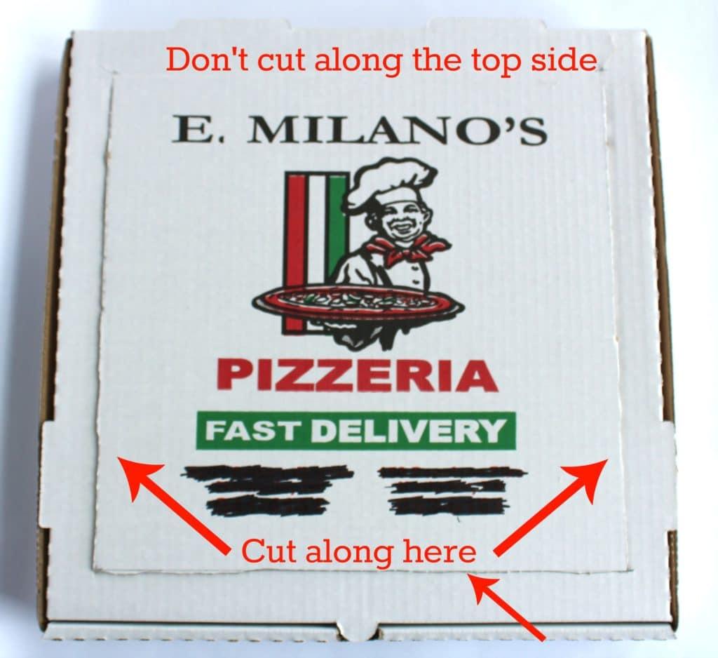 pizza box oven step 1