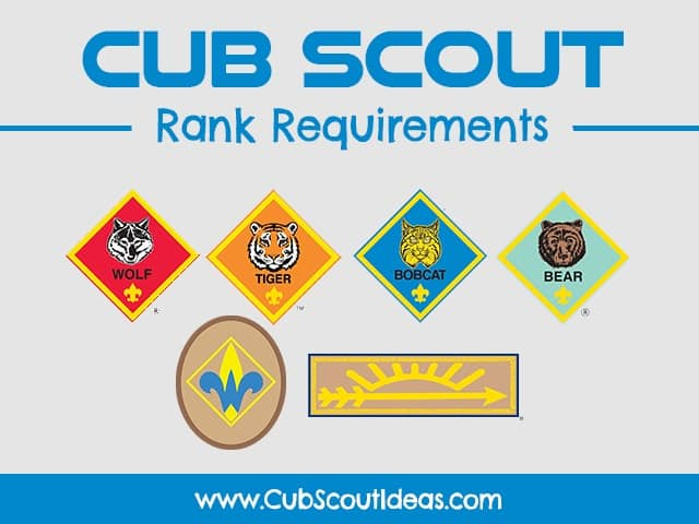 cub scout rank requirements