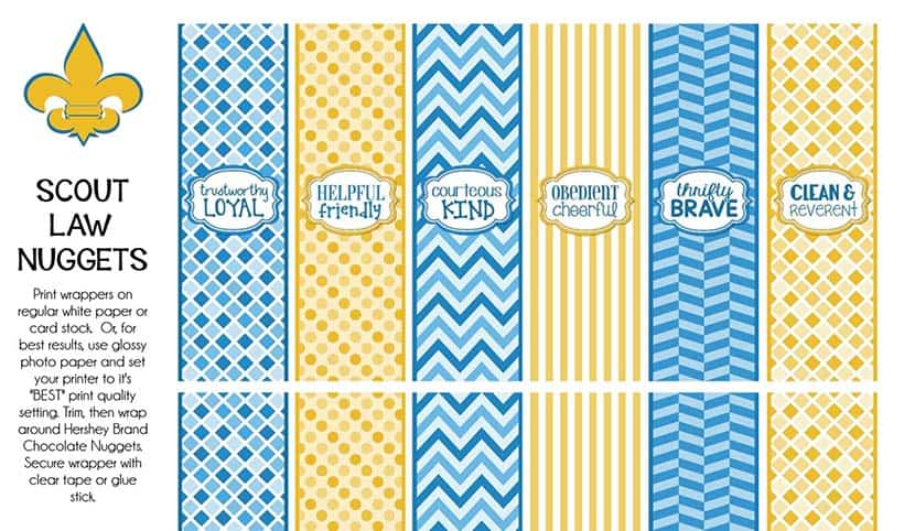 scout law candy wrapper printable