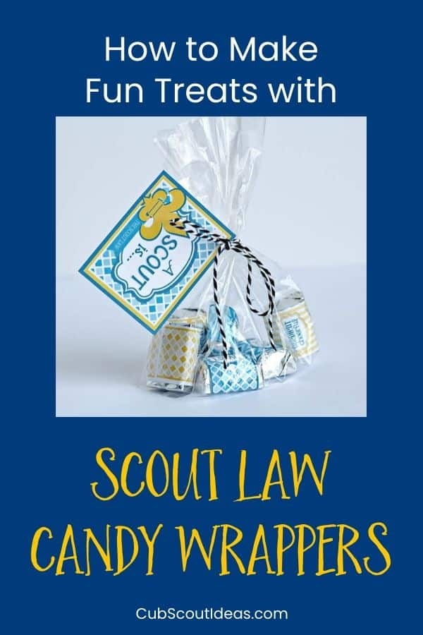 scout law wrappers for candy