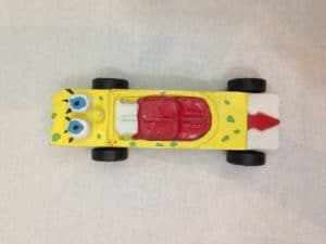 spongebob pinewood derby car