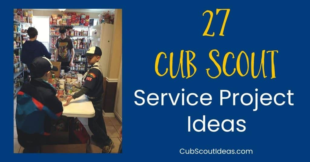 27 Cub Scout Service Project Ideas