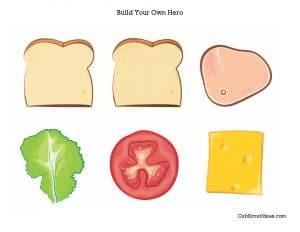 build my own hero sandwich handout