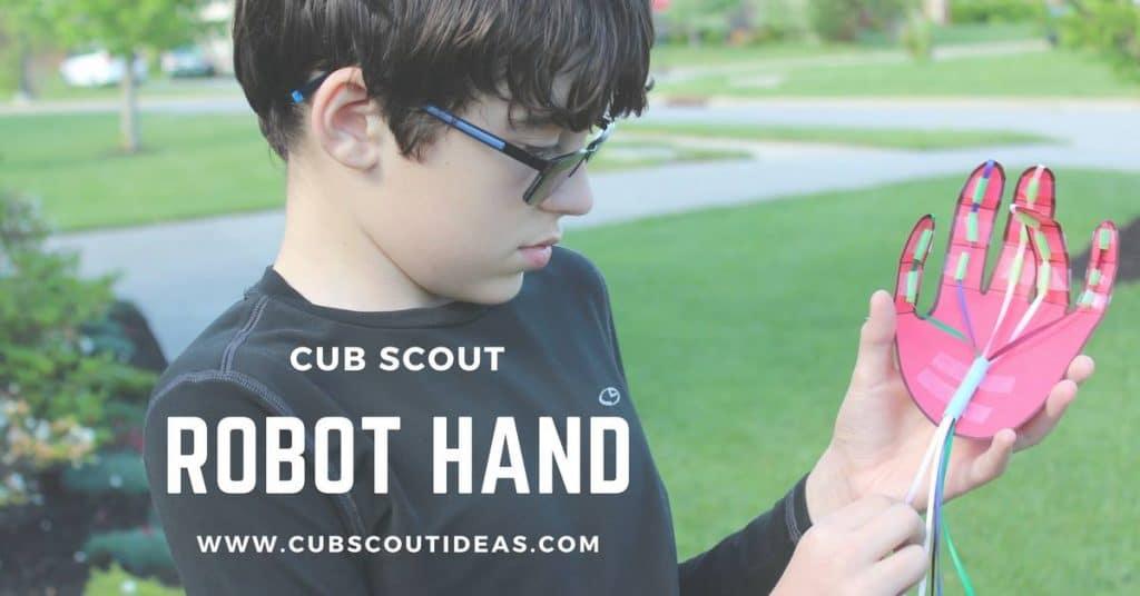 cub scout robot hand
