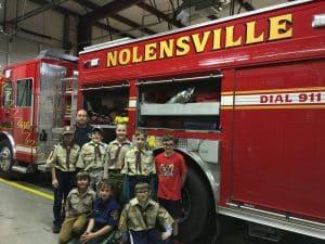 fire department visit cub scout service project ideas