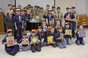 book drive cub scout service project ideas