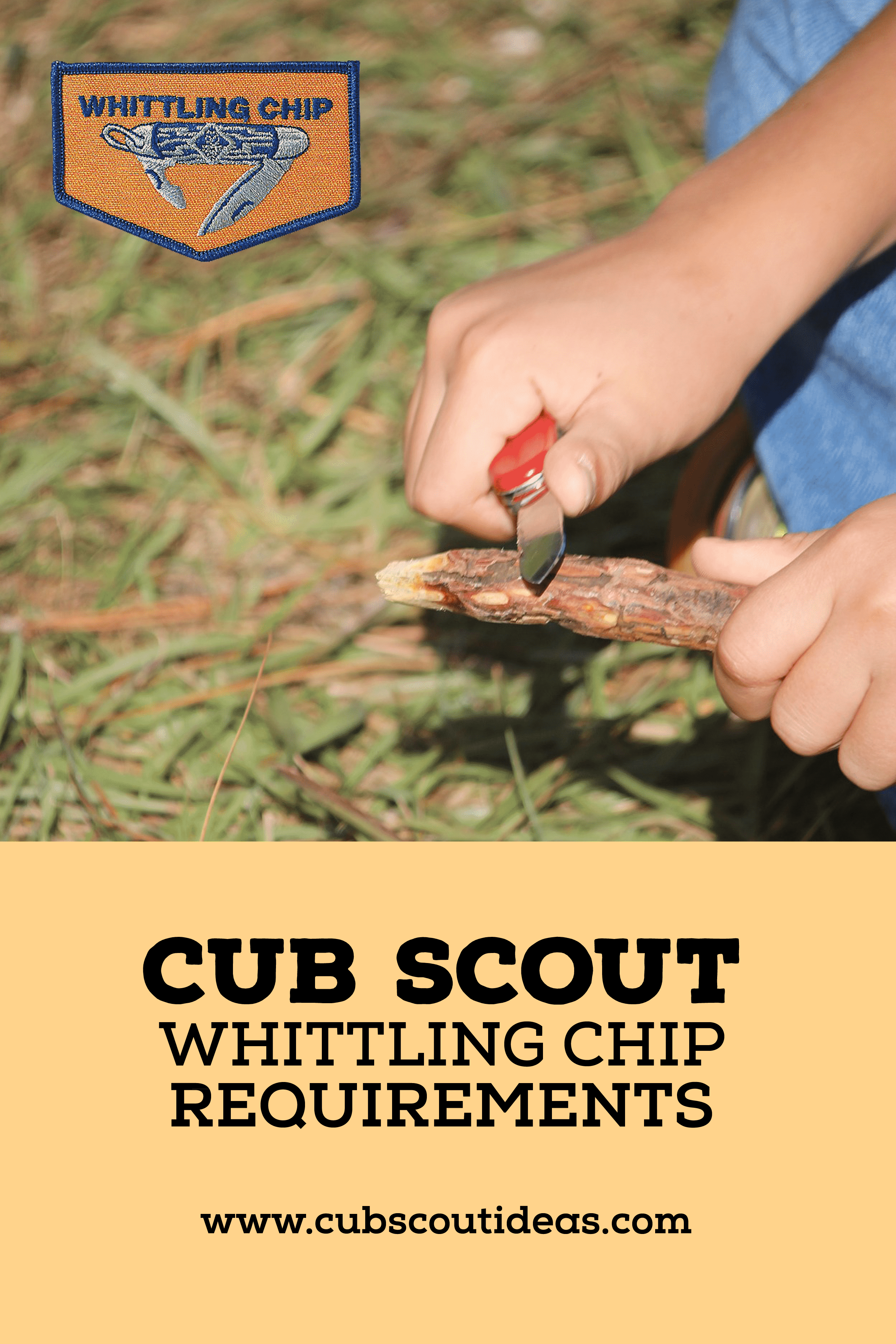cub scout whittling chip requirements
