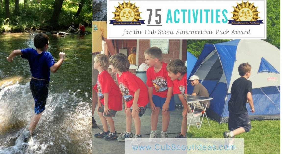 cub scout summertime pack award activity ideas