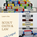 scout oath & law with legos