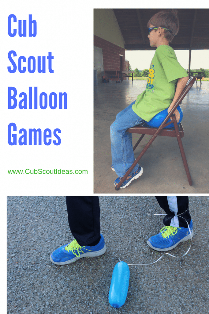 Cub Scout games with balloons