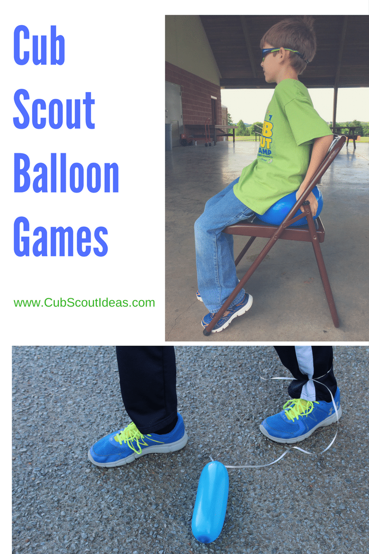 Even if these Cub Scout balloon games weren't on your den meeting plan, you can use them if the boys get restless and need to do something active.  They also make great Cub Scout gathering activities.