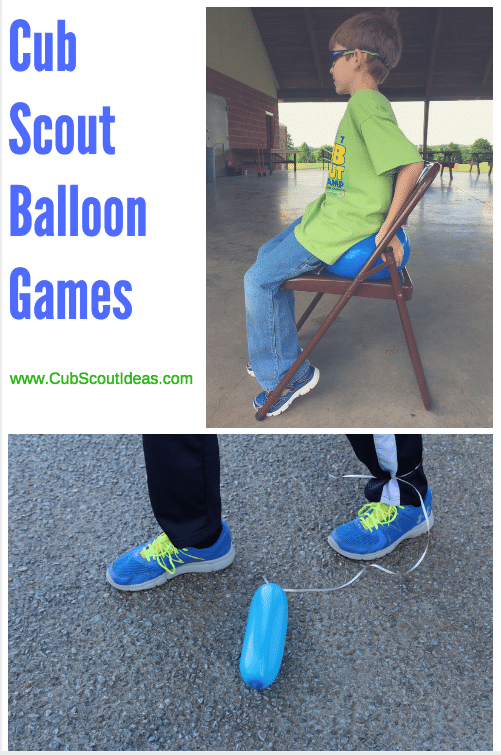 cub scout balloon games