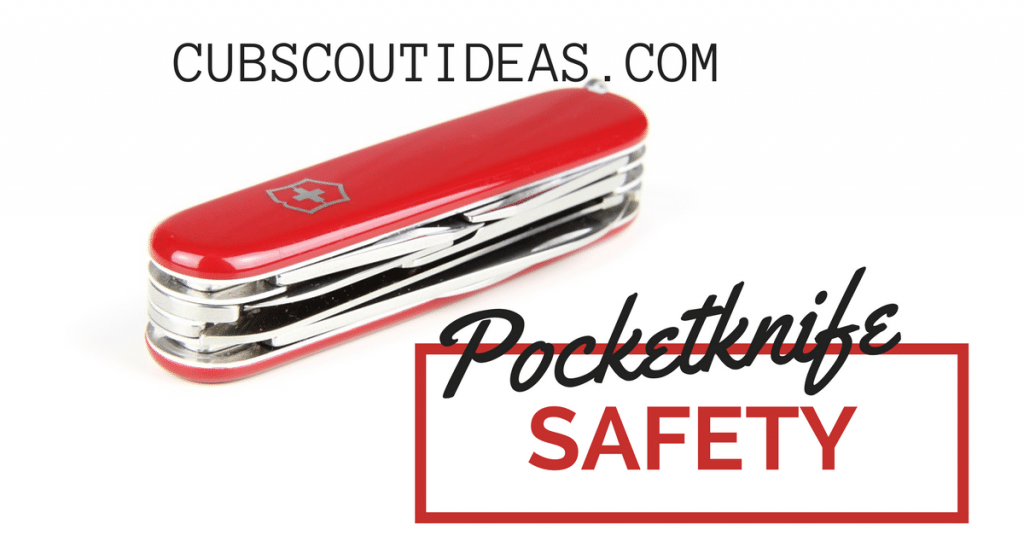 Pocketknife safety is important for Cub Scouts to learn. A requirement for the Cub Scout Whittling Chip, it's also just good information for them to know.