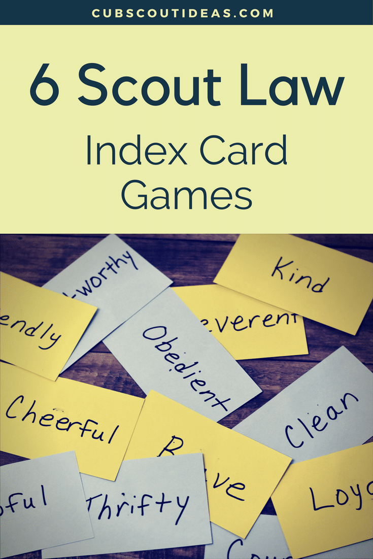 photo relating to Cub Scout Motto in Sign Language Printable referred to as 6 Interesting and Successful Scout Legislation Index Card Game titles Cub