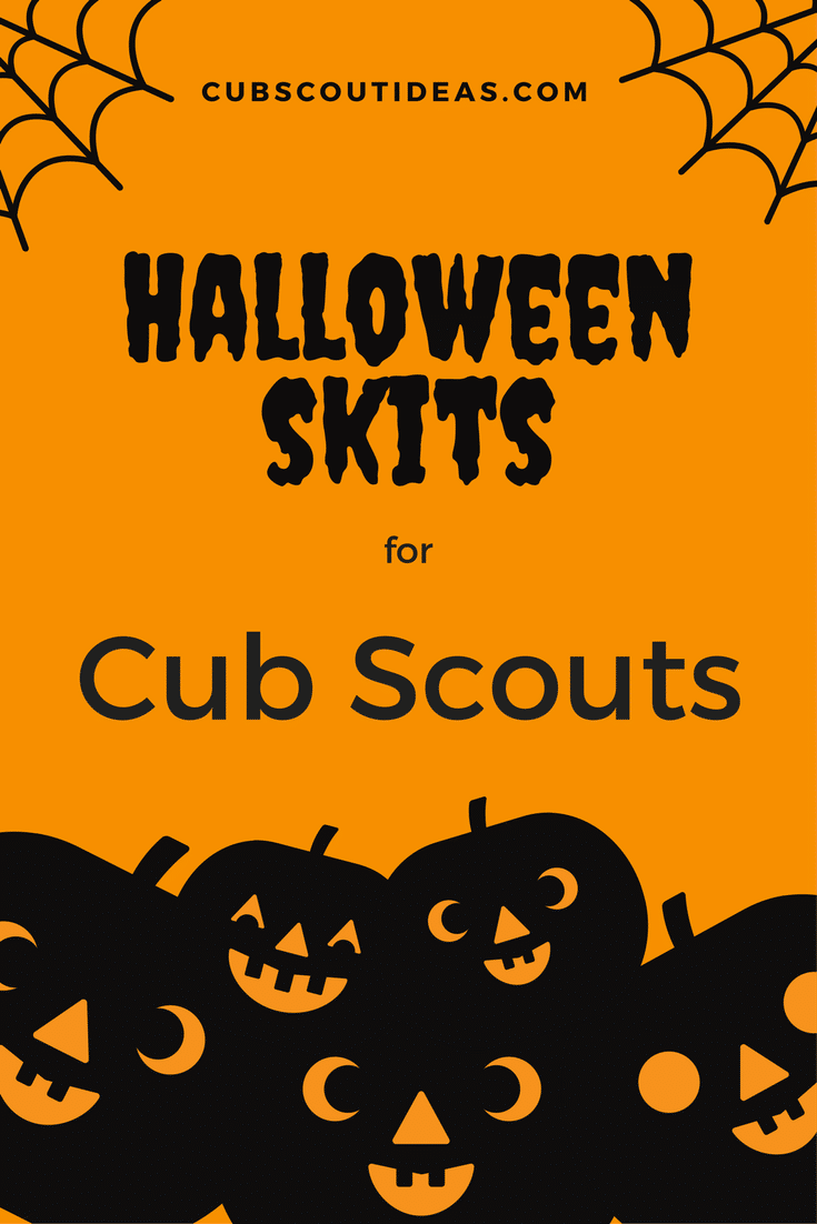 Halloween Cub Scout skits are great for those September and October den and pack meetings. These skit ideas work well for Cub Scouts and kids. #Halloween #Skit