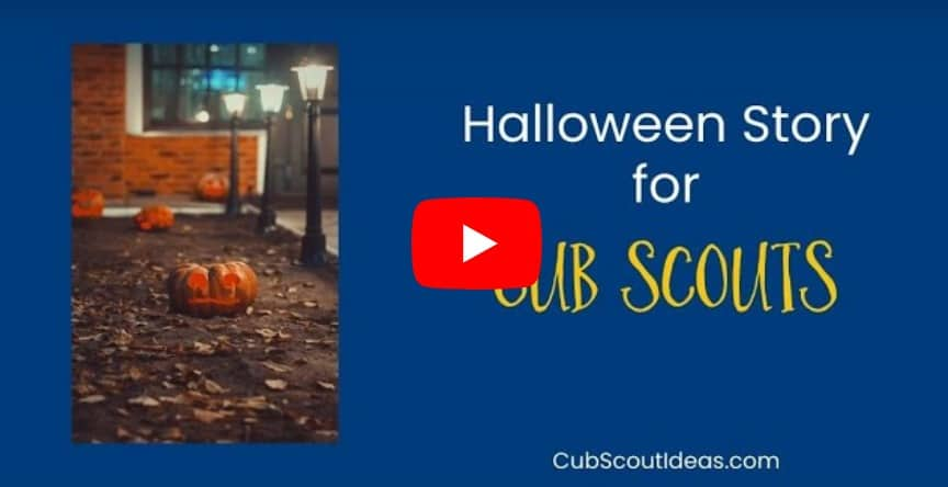 halloween story for cub scouts with red play button