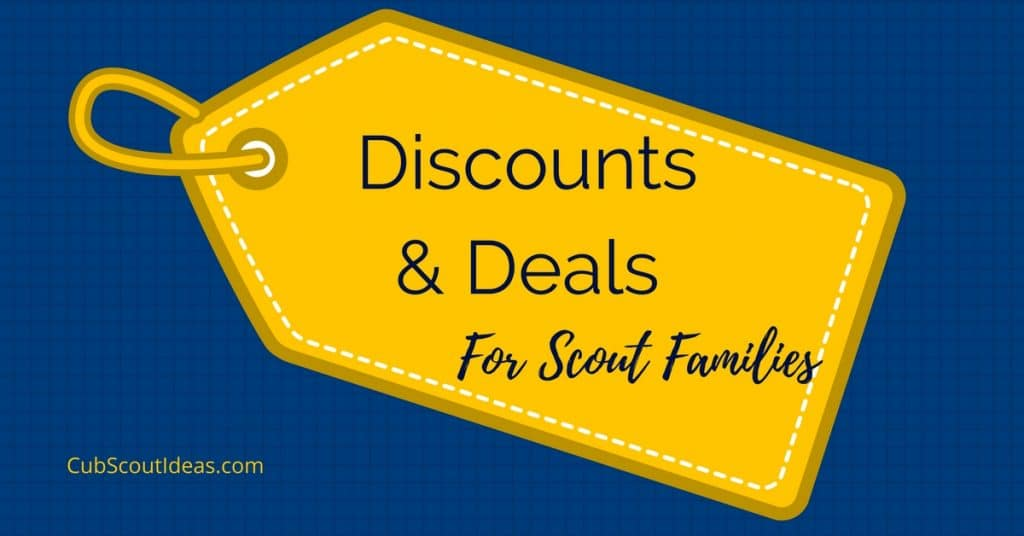 discounts for cub scouts