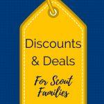 cub scout discounts