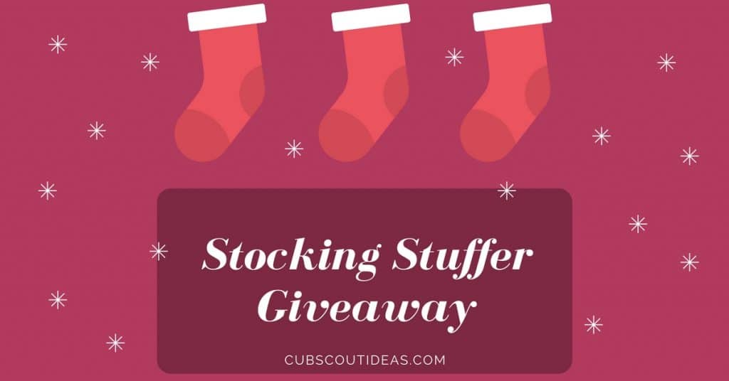 cub scout stocking stuffer giveaway