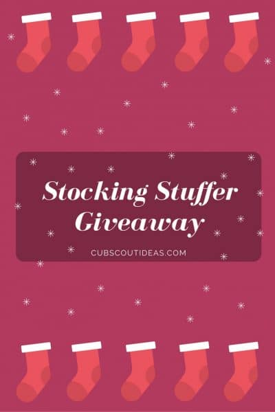 Cub Scout Stocking Stuffer Giveaway!