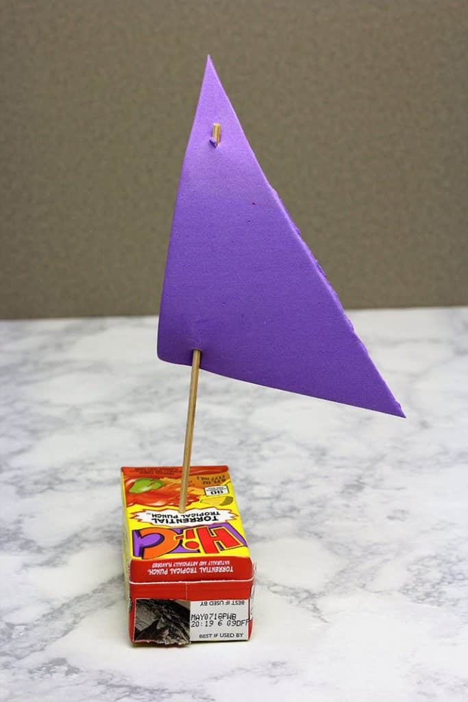 juice box raingutter regatta boat triangle sail