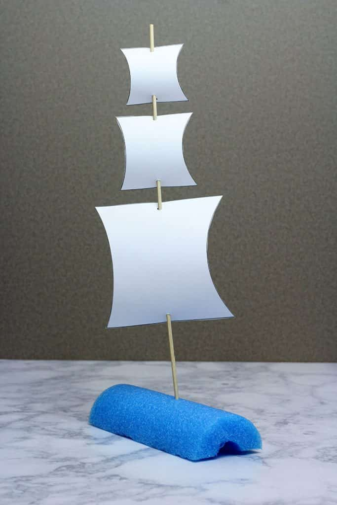 pool noodle raingutter regatta boat triple sails