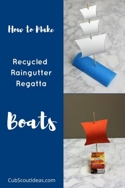 How to Make Recycled Raingutter Regatta Boats