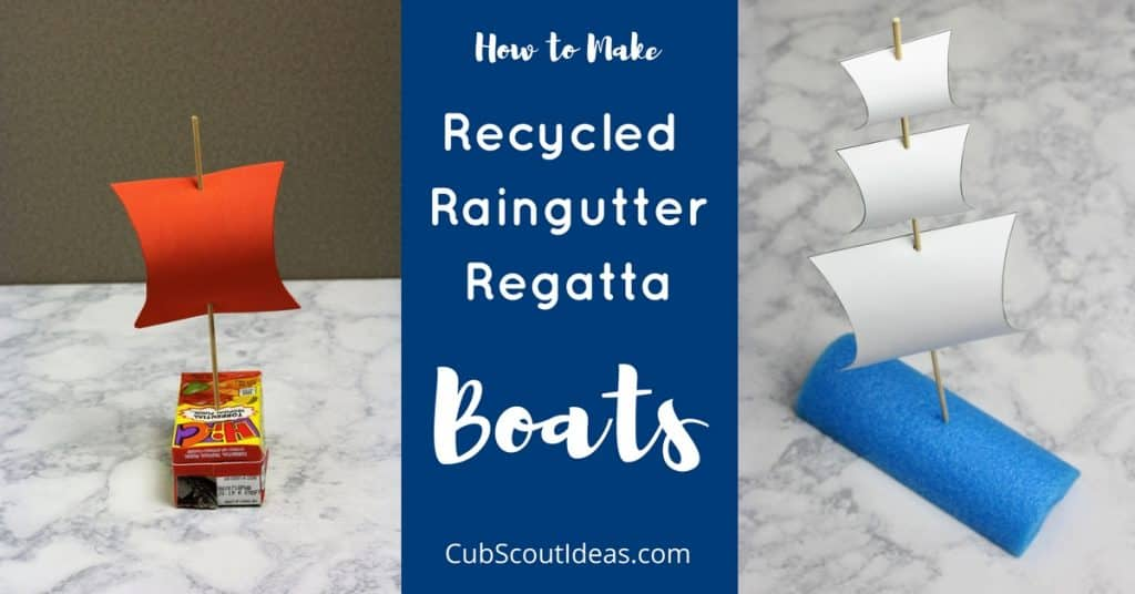recycled raingutter regatta boats