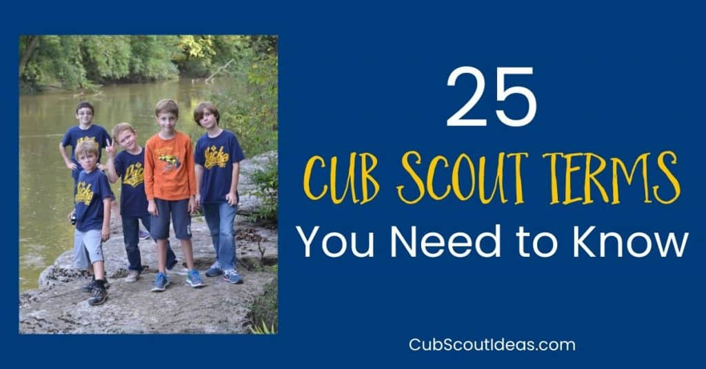 25 cub scout terms