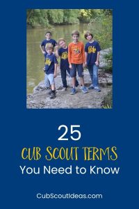 25 important cub scout terms