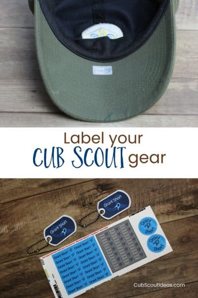 No More Lost Cub Scout Caps with Mabel's Labels