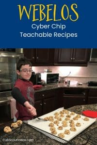 Webelos Cyber Chip Teachable Recipes p