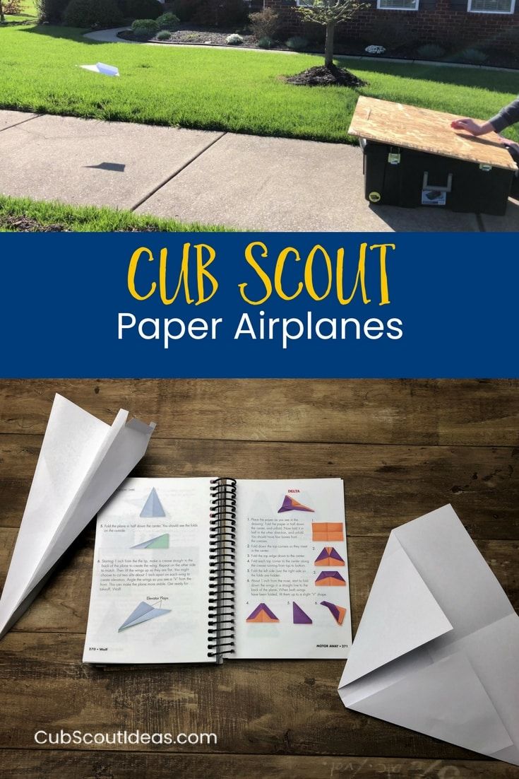 How to Make a Paper Airplane for Cub Scouts