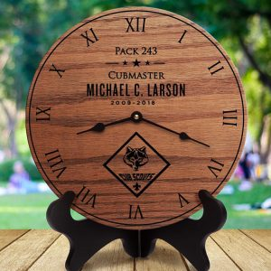 Cub Scout Leader gift clock