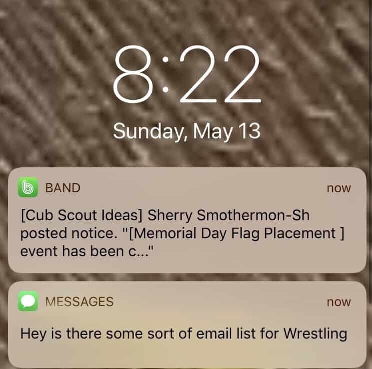 band notification