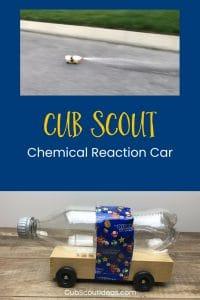 Cub Scout chemical reaction car p