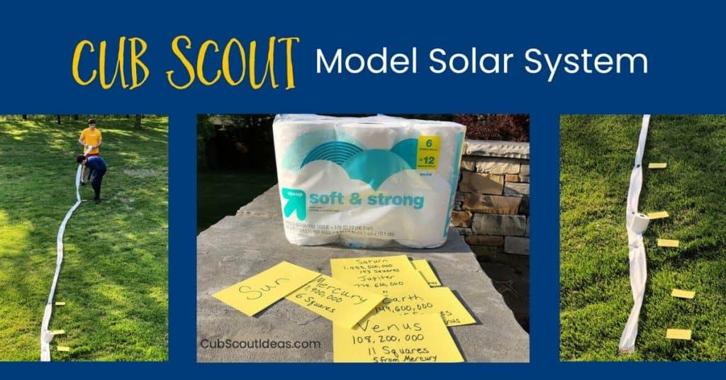 Cub Scout model solar system