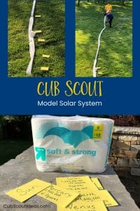 Model Solar System for Cub Scouts