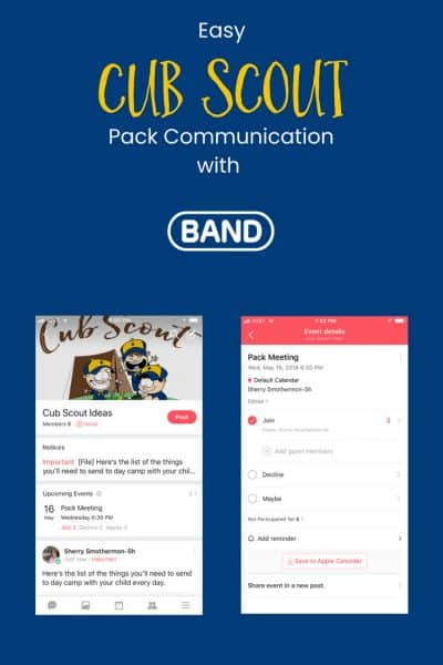 BAND: The Best Cub Scout Pack Communication App