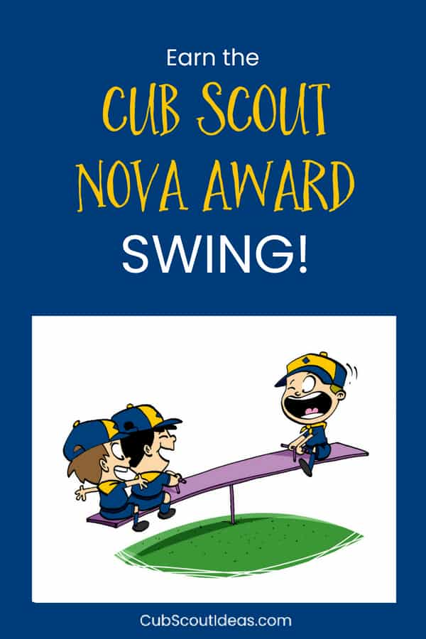 The Cub Scout Nova award Swing! is a fun STEM activity that has kids learn about levers which are one type of simple machine. The award teaches them about the practical uses of levers which is one type of engineering for kids. #CubScouts #CubScout #NovaAward #STEM #STEMactivities