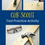 tool practice activity for Cub Scouts