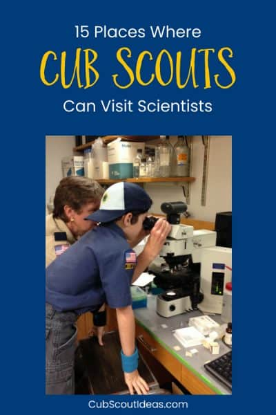 Cub Scouts Visit Scientists p